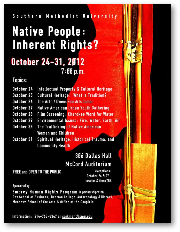 Native People Inherent Rights poster