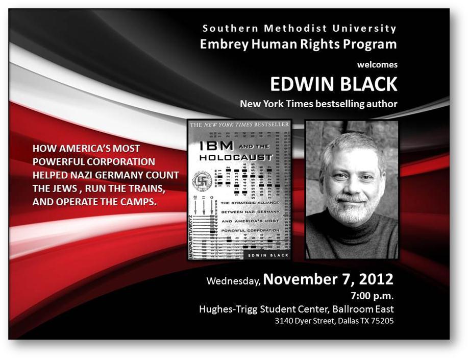 Edwin Black to speak at SMU